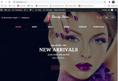 Custom Designed responsive WordPress eCommerce Online shop