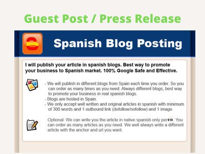 Publish Your Content in Spanish Blogs