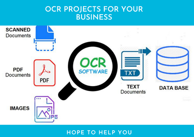 Help you automated data extraction from image ,PDF using ocr