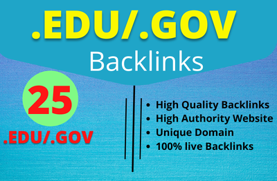 Manually create 25 EDU/GOV High Authority SEO Backlinks
