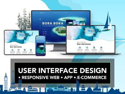 Design User Interface for Responsive Web, App, E-commerce