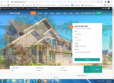 Develop estate WordPress website for Sale and Rental Property