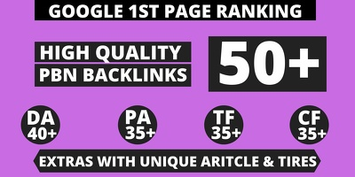 Create Extreme 50 Backlink with Your Relevant niche