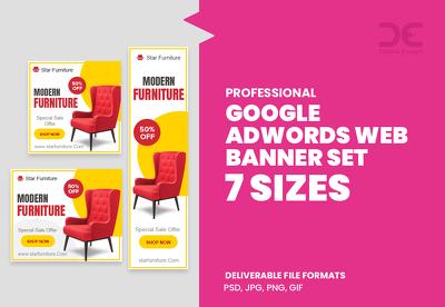 Design Google AdWords Web Banner Set - 7 Sizes