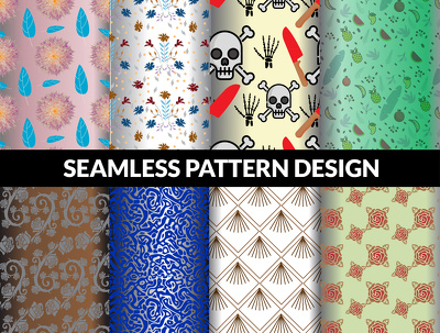 Design urgent unique modern floral seamless patterns