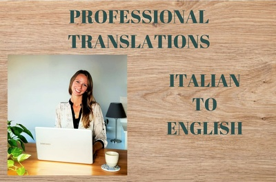 English Native Speaker Translate from Italian 500w