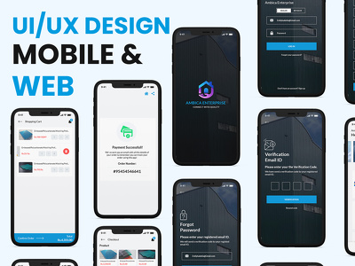 Creative and unique mobile app/website UI/UX design