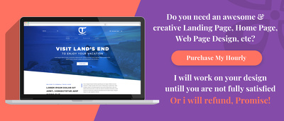 Design creative (PSD) landing page/Homepage + Unlimited Revision