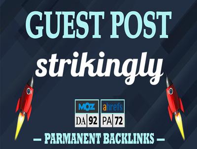 Write and Publish Unique Guest Post on Strikingly.com DA 92