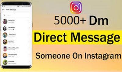 5000 DM ( Direct Massage advertisting ) Instagram Direct Massage