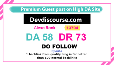 Guest Post on Devdiscourse. Devdiscourse.com DR 73