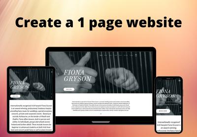 Create a 1 page website