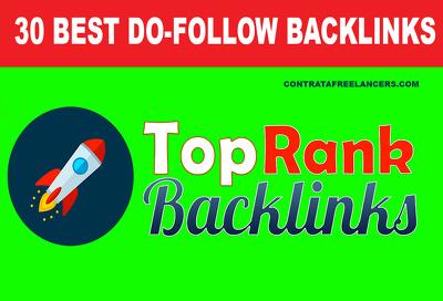 Build best 30 high quality high da SEO dofollow backlinks