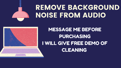 Remove background noise from your audio