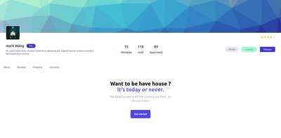 Make landing page for your business