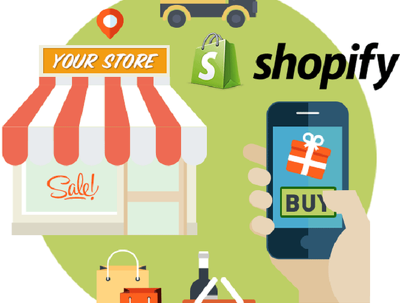 Set up and organize online shopify store with upto 2-pages