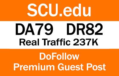 I Can Write and Publish guest post on SCU.edu   DA79