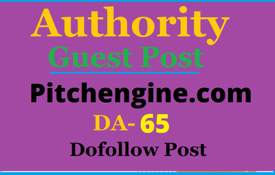 High authority high traffic guest post on Pitchengine.com DA 70