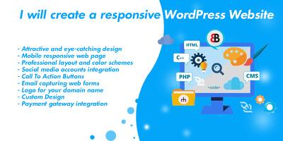 I will create a responsive Affiliate WordPress Website
