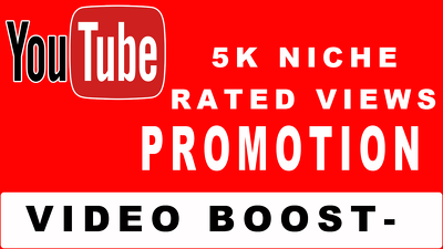 Add 5000 youtube boosting niche rated traffic to your video