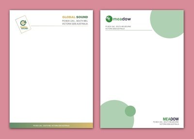 Design a professional letterhead template for your business