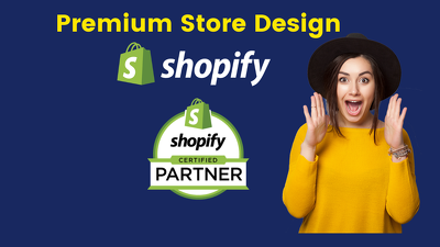Setup shopify store or shopify website design