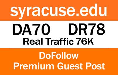 Write And Publish Guest Post On Syracuse.edu   DA70