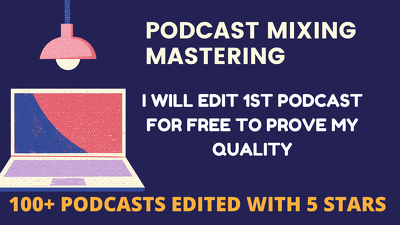 Mix and master/intro/outro/clean up your podcast (any length)