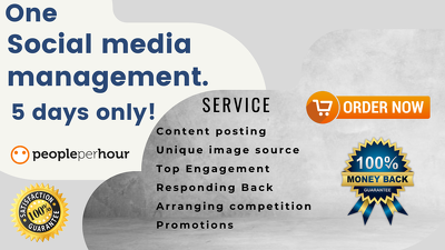 Fully manage one social media with Content & THE BEST Engagement