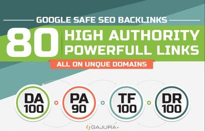 Create 80 UNIQUE SEO BackIinks on DR 80 sites Plus Edu Links