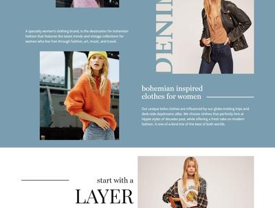 Design web page mockups