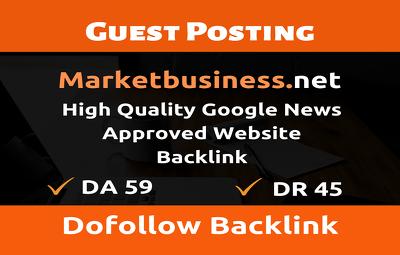Guest post on Marketbusiness -- Marketbusiness.net- DR 45 DA 59