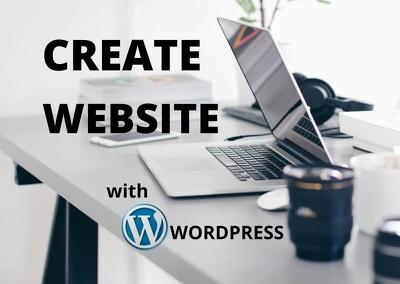 I will create a modern WordPress website.