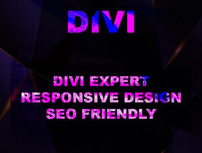 Design your wordpress website with divi theme, divi expert