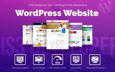 ⭐ Design an Eye-Catching & Fully Responsive WordPress website ⭐