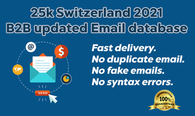 25k Switzerland B2B active genuine email database (2021 updated)