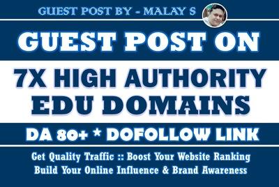 7X EDU Guest Posts - DA80+ - Unique Content - Dofollow Links