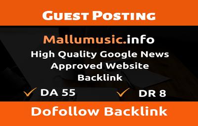 Guest Post on Mallumusic.info - Mallumusic - Do Follow
