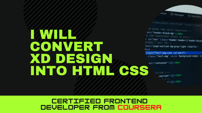 Convert XD design into Html Css (1 Page)