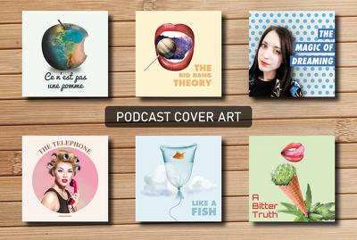 Create a podcast cover art and logo design