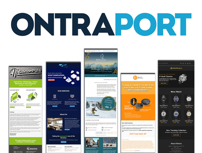 Design and develop ontraport email template or newsletter