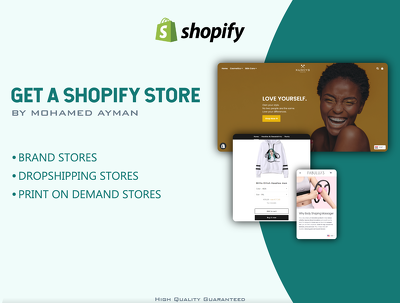 Build and design a new shopify ecommerce store