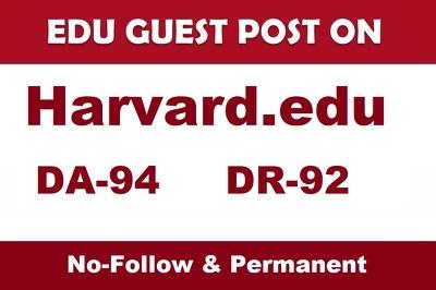 Guest Post on Harvard edu -Harvard.edu DA 94 University