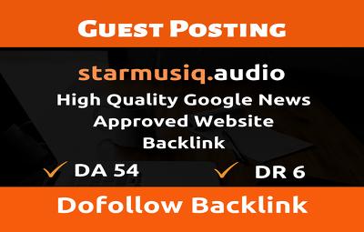 Guest Post on Starmusiq.audio - Starmusiq - Do Follow