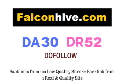 Guest Post on Falconhive.com - DR52 - Dofollow