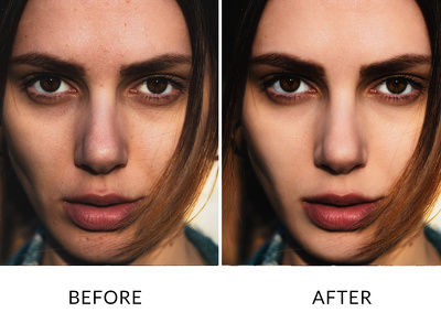 Retouch and color correction to your photo