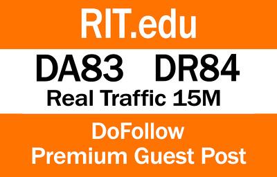 Write and Publish guest post on RIT.edu   DA83