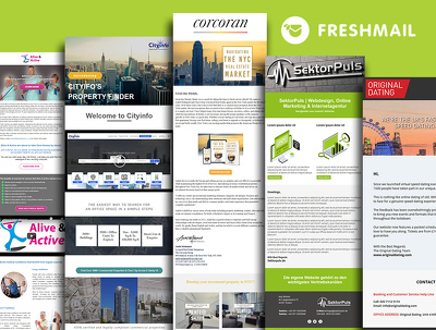 Develop responsive freshmail email template and newsletter