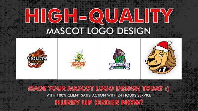 Mascot design, cartoon character logo designs unlimited revision
