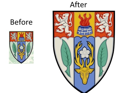 Redraw, manually vectorise and trace your logo / image in 24hr